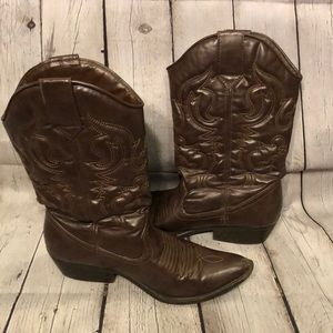Mossimo Supply Co Cowboy Boots Faux Leather 8.5